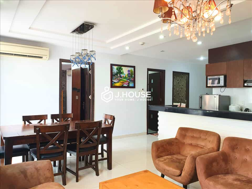 Spacious 3 bedrooms apartment with balcony in Tan Binh District