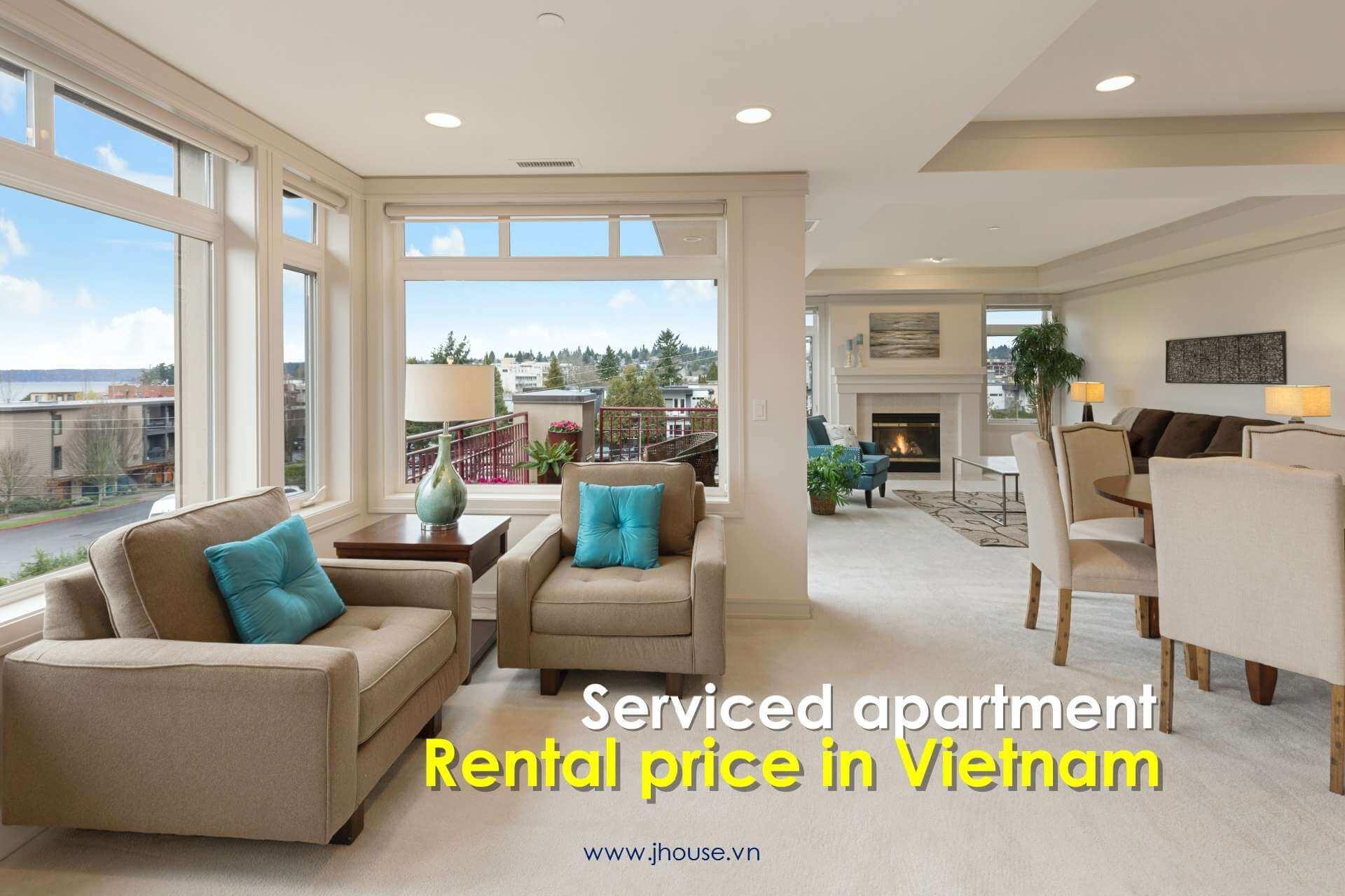 serviced apartment rental price in Vietnam